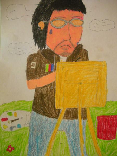 儿童画 我的老师尊敬的老师儿童画