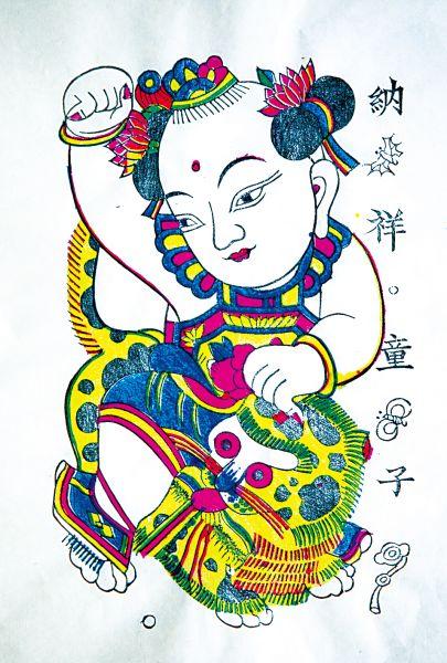 """用代表中国年画精品的凤翔木版年画作为这个系列的"""""""