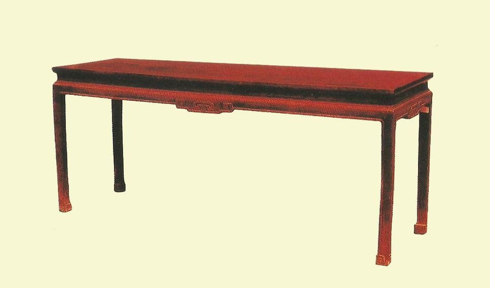 清中期 红木条桌
