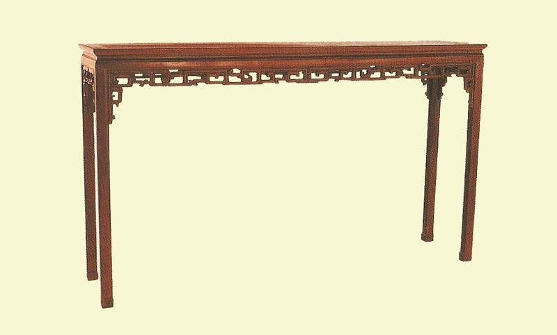 清 红木条桌