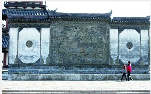 上海豫园墙檐手绘图片