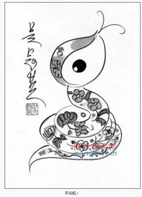 的手绘邮票(图)