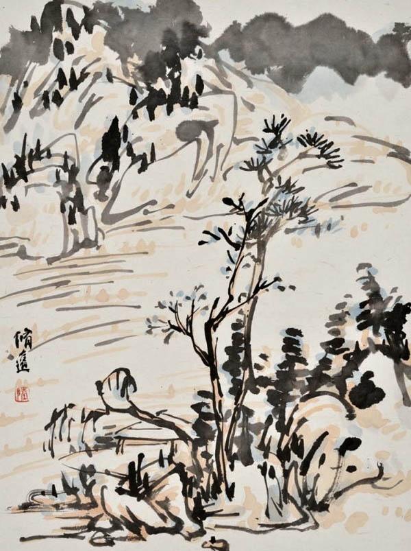 古代水墨画用纸-艺术殿堂的门槛之高让人怯步,求索之路真是一步一重天.此次展出的