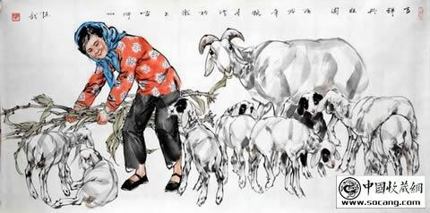 幼儿园线描画羊