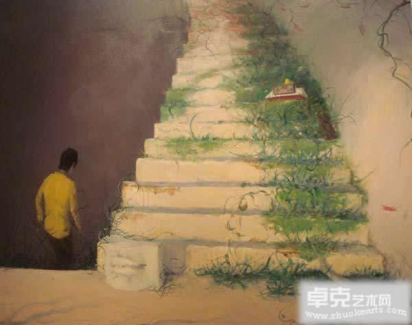 广州塔背景油画