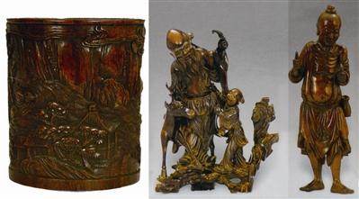 清代木雕的特点:在雕刻工艺上,明代较单纯,只有浅浮雕,深浮雕,圆雕几