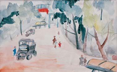 而以著名油画《夯歌》为代表作的老一辈艺术家王文彬,1977年的作品