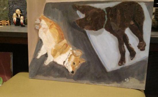喜欢画狗的美国前总统小布什